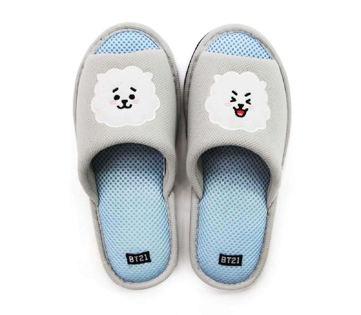 DHSPKN Kpop BTS Cartoon Chracters Slippers Jungkook Jimin Suga Indoor Winter Slipper
