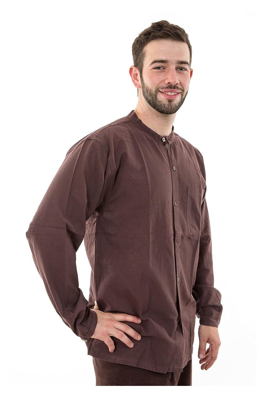 - Shirt Light Brown Cotton Nepal Coconut Buttons Gengis -