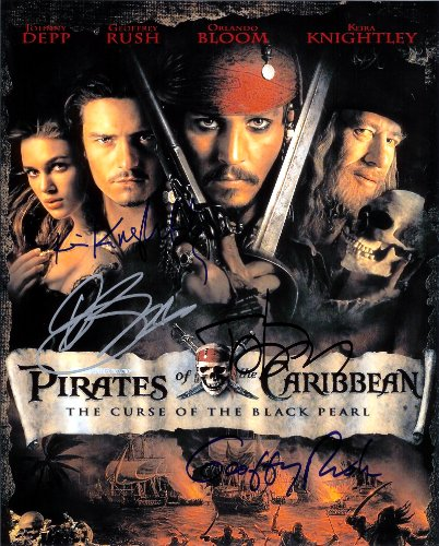 Johnny Depp Cast Signed Autographed Pirates of the Caribbean 8 X 10 Reprint Photo - Mint Condition (Mint Condition Pirates)