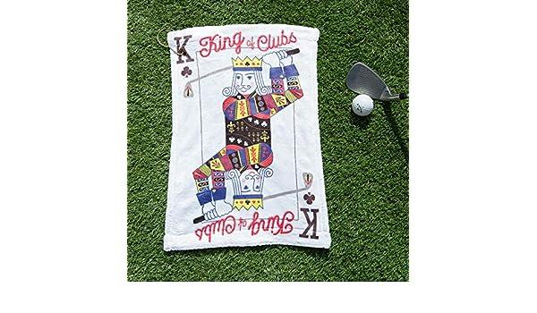 Notjustaprint King of Clubs - Juego de Cartas de Golf, Toalla de Golf Personalizada, motivador para él: Amazon.es: Deportes y aire libre
