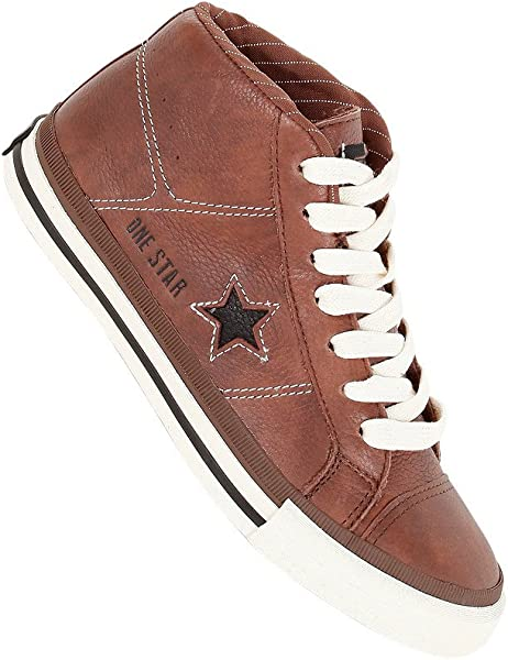 29ba7134cb2a50 Converse One Star Mid Leather Pinecone 126832 (36)  Amazon.de ...