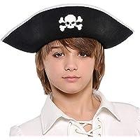 "Christy 392108 Pirate Hat, Black/White, 13"" x 9"" x 3 1/2"""