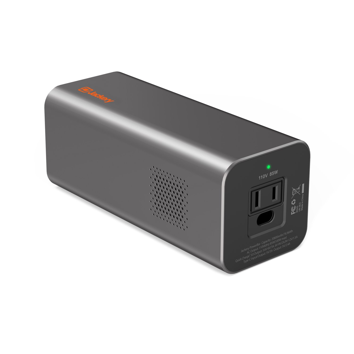 AC Outlet Portable Laptop Charger Power Outdoors(TSA-Approved), Jackery PowerBar 77Wh/20800mAh 85W (100W Peak) Travel Laptop Power Bank External Battery Pack for HP,Notebooks,MacBook and Other Laptops by Jackery