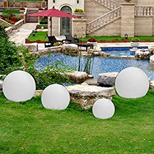 Amazoncom 95 inch Floating LED Pool Glow Light Orb Ball