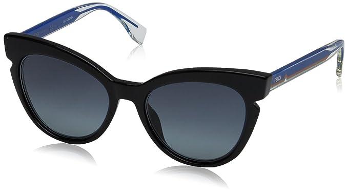 Fendi FF 0132/S HD Z4Q, Gafas de Sol para Mujer, Negro ...