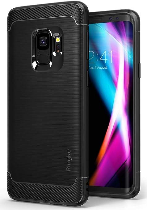 Ringke Funda Galaxy S9, [Onyx] [Gran Resistencia] Protectora de TPU Duradera, Antideslizante y Flexible para Galaxy S9 2018 Case Cover – Black Negro: Amazon.es: Electrónica