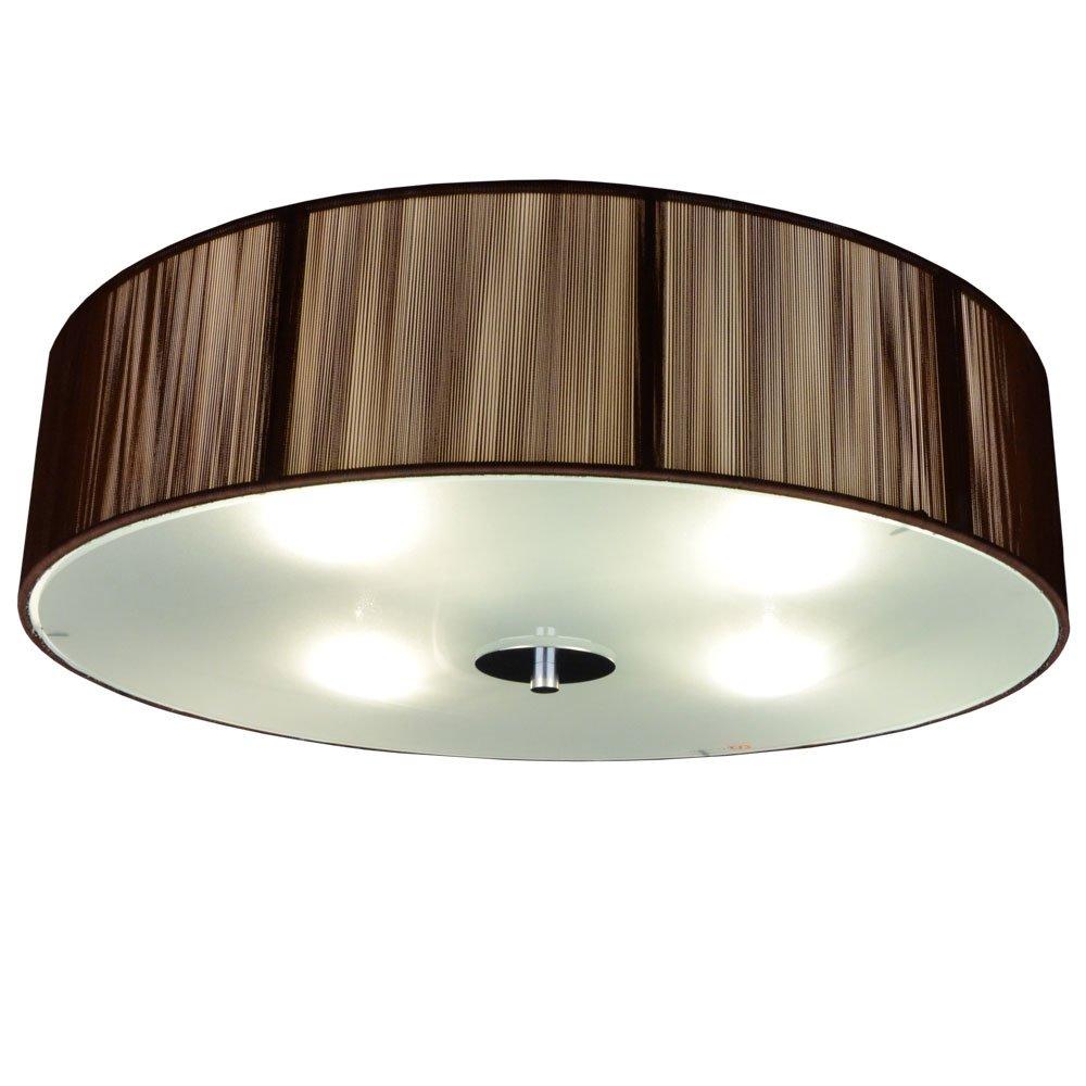S`luce (Twine) COFFEE Deckenleuchte 4 Flammig, Ø50cm/H12cm, Braun  CORS/1C500/CO|Ø50/H12 CO: Amazon.de: Beleuchtung
