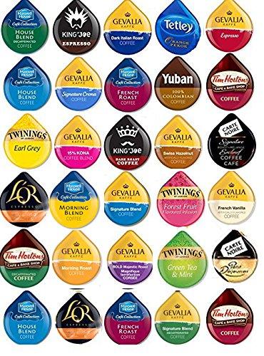Custom Variety Pack 30 Tassimo T-Disc Variety Sampler