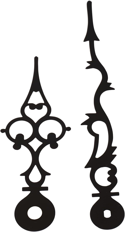 2 sehr schöne  neuwertige Zeiger für Wand-Tischuhren,etc..11,7//8,7 cm..HT.