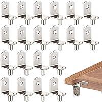 Planksteunen, 20 stuks, 5 mm L-vorm, metaal, plankdrager, vloerdragers voor keukenkast, boekenrek, kast, steunen…