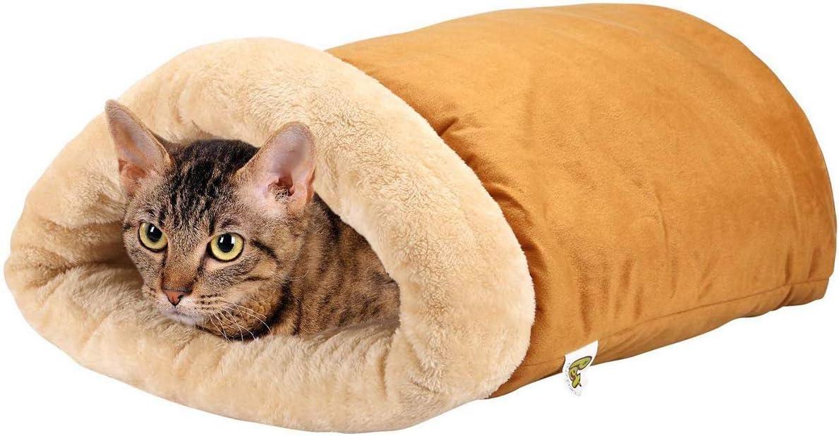 Cama iglú para gatos Un saco acogedor [Extra Cómodo y Suave] para Gatos, Cachorros y Otros Animales Pequeños.