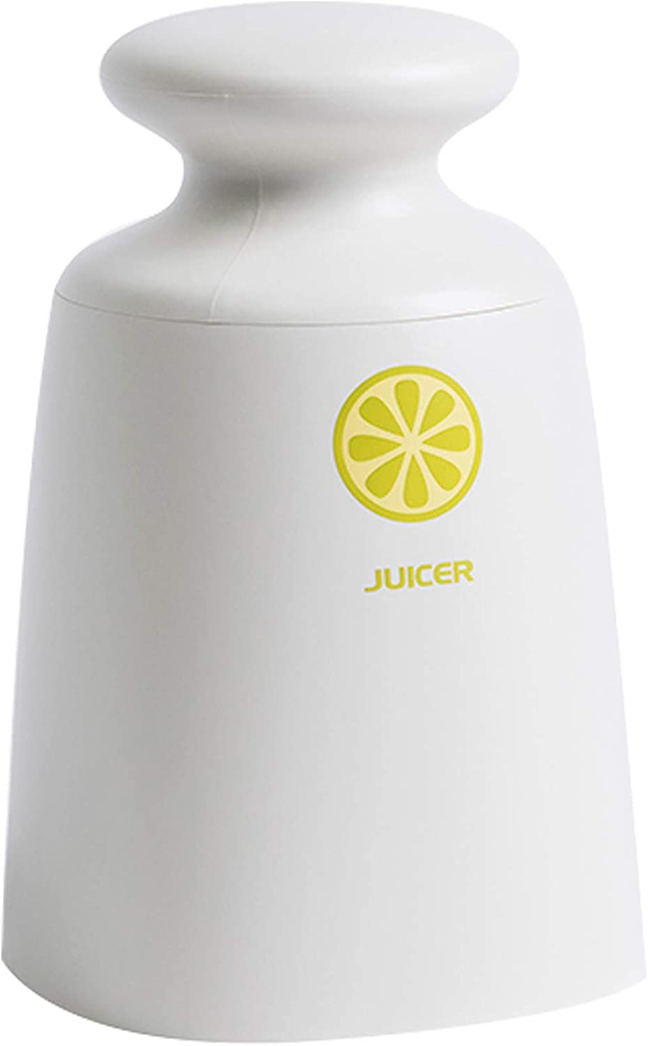 Citrus Juicer, Lemon Squeezer - Hand-held Manual Juicer | Includes 1-cup Glass container | Press and Twist (White)