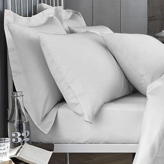 Bianca 200 Hilos sábana, algodón, Blanco, King, algodón, Cotton ...