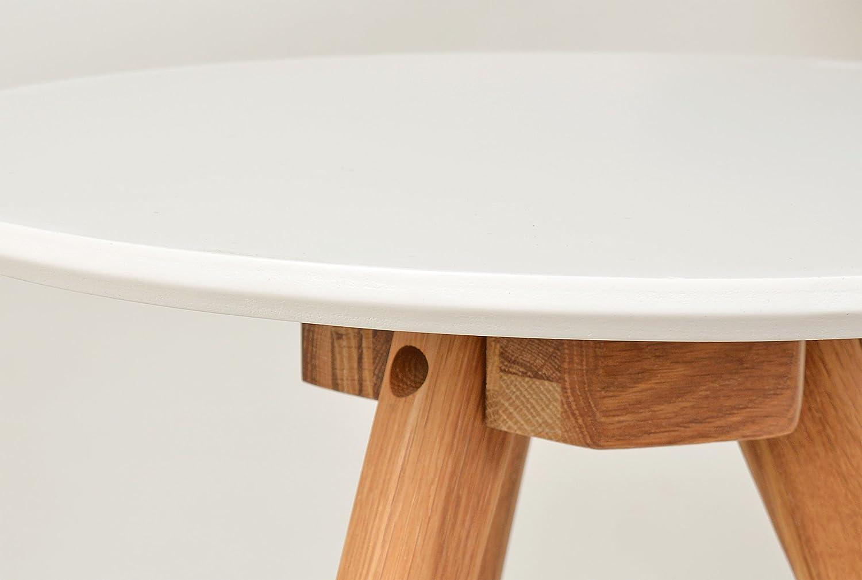 Good Tsideen Er Set Design Rund Eiche Wei Kaffeetisch Couchtisch Nachttisch  Amazonde Kche U Haushalt With 3er Set Wei