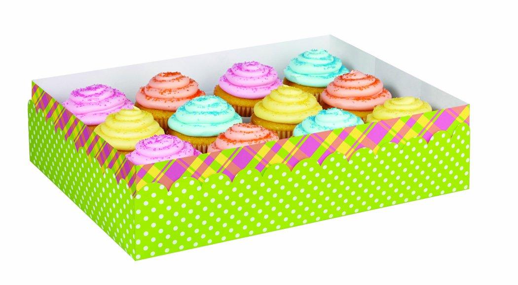 Wilton 415-6078 Scatola Porta Muffin Easter, Cartone, Verde, 30x22x7.5 cm