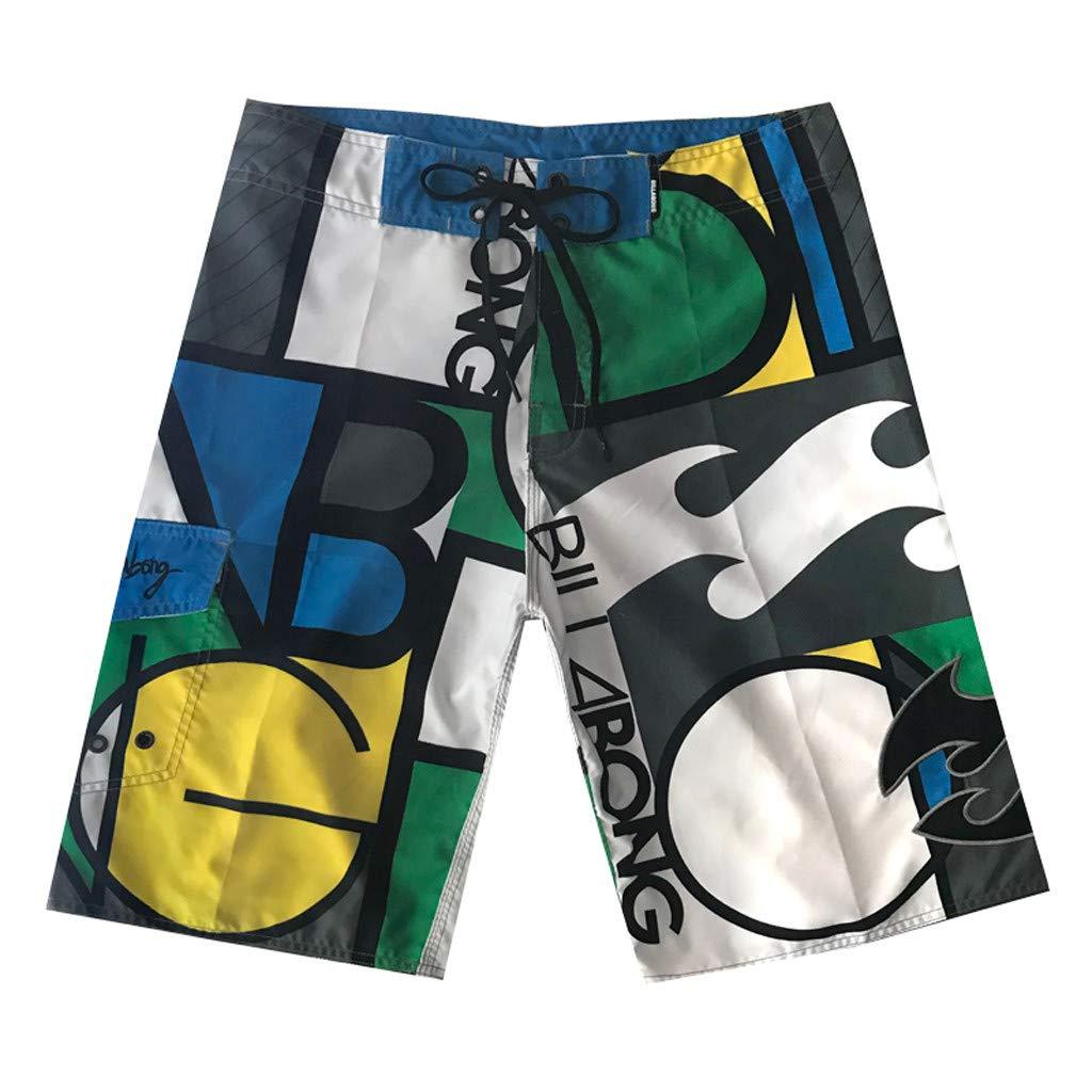 Mens Octopus Causal Beach Shorts with Elastic Waist Drawstring Lightweight Slim Fit Summer Short Pants with Pockets