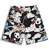 Beach Pants Quick-Drying 2018 Casual Pants Men's Tide 3D Printing Panda Couple Shorts,Photo Color,XL