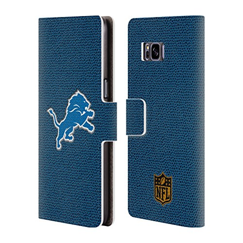 (Official NFL Football Detroit Lions Logo Leather Book Wallet Case Cover for Samsung Galaxy S8+ / S8 Plus)