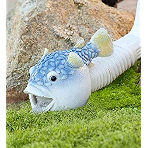 Blowfish Decorative Downspout Cover 13.75 L x 7.5 W x 8.75 H