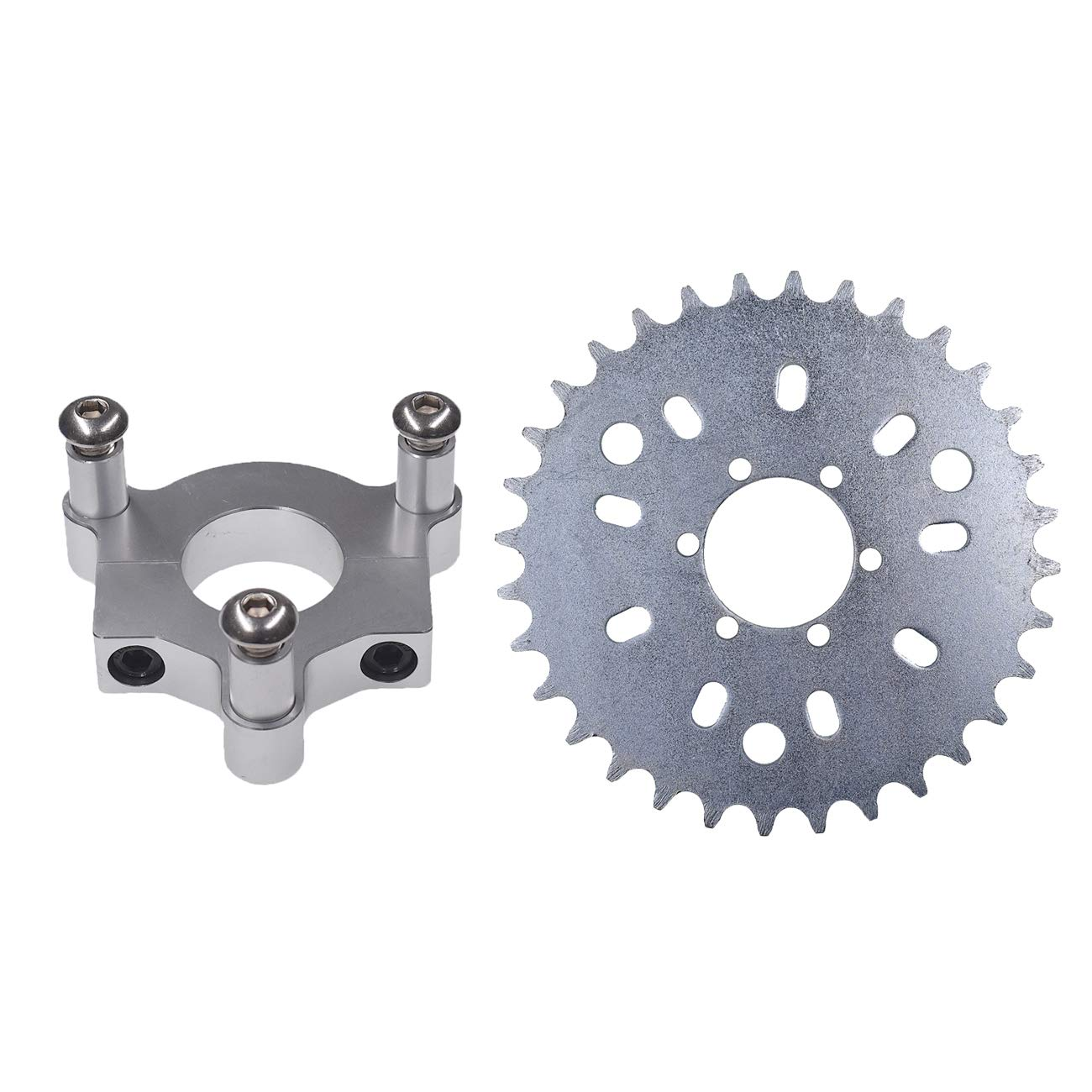 UAUS 32 T Sprocket with CNC Adapter Fit 1.5 inch hub 415 Chain 49cc 50cc 66cc 80cc 2 Stroke Motorized Bike Motorised Bicycle by UAUS