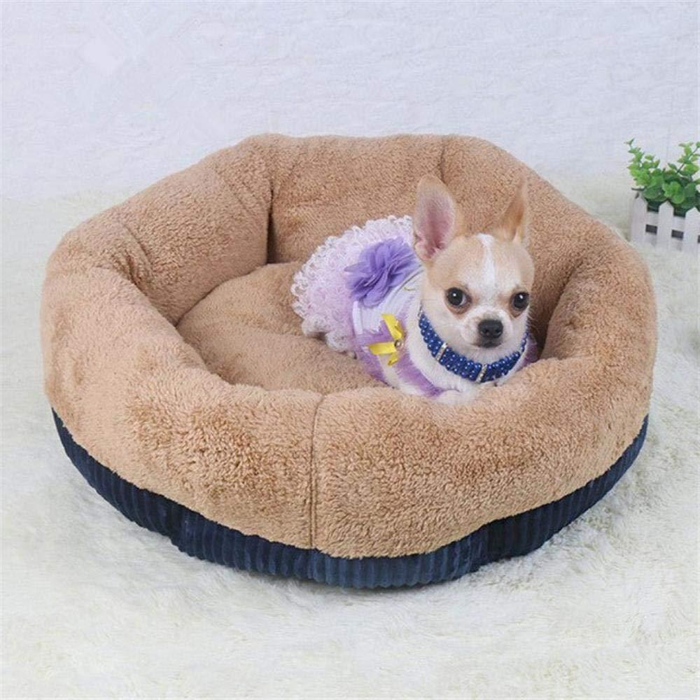 Navy bluee S 45x45x19cmDog Beds for Small Dogs Winter Warm Deep Dish Cat Dog Bed DirtResist Waterproof Pet House Soft Comfort Puppy Nest Cat Cuddler (L 65x65x23cm,Coffee)