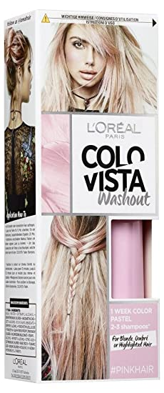 L\'Oréal Paris Colovista 2-Week Washout #PINKHAIR, Haarfarbe ...