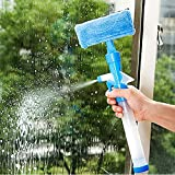 MAZIMARK--Windshield Clean Car Wiper Cleaner Glass Window Cleaning Brush +Spray Water RF