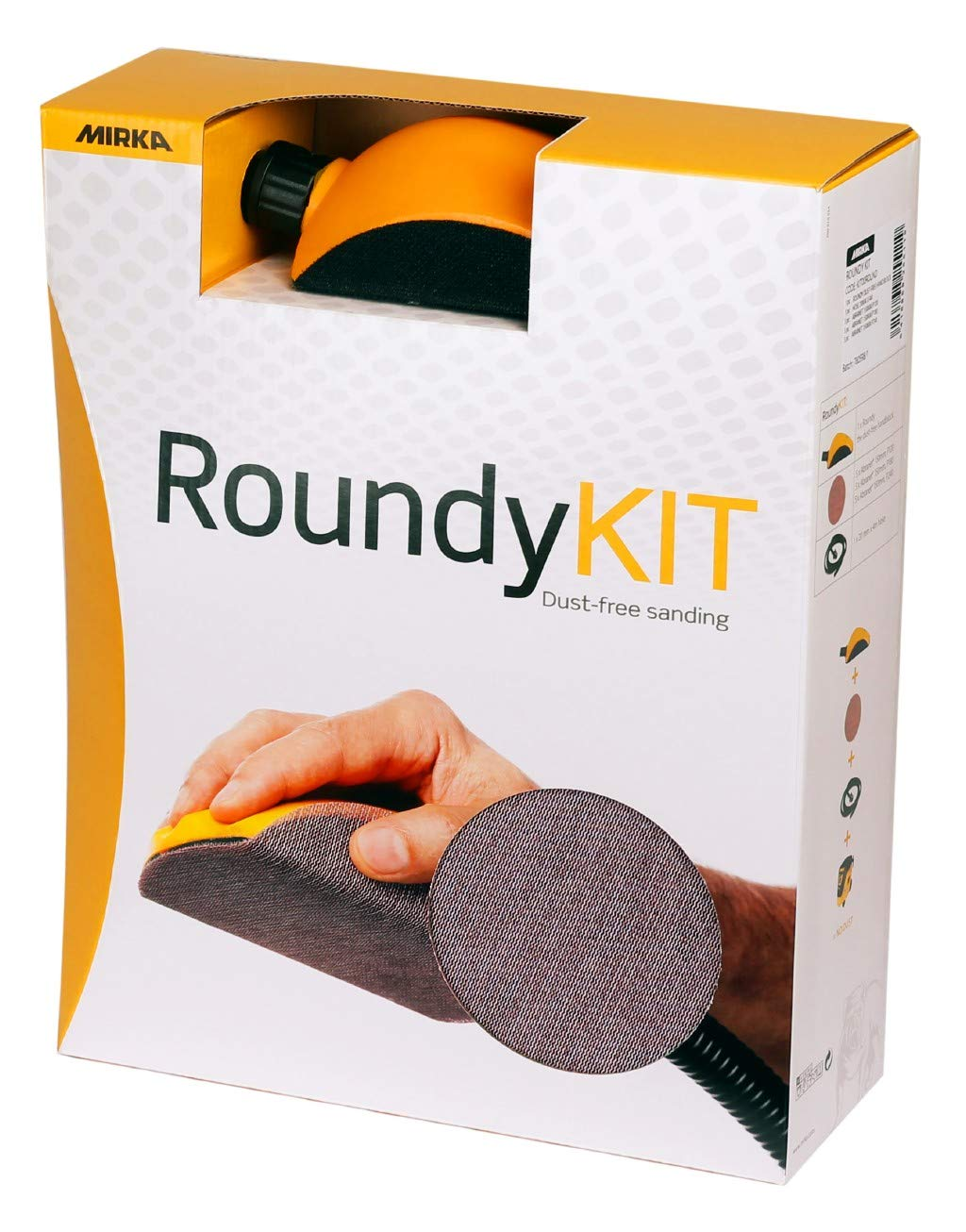 Mirka ROUNDY Hand Sanding Block Kit with Hose & 150mm Abranet Discs (KIT00ROUND)