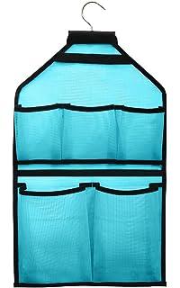 Misslo Mesh Bathroom Shower Organizer With Rotatable Hanger (Blue)