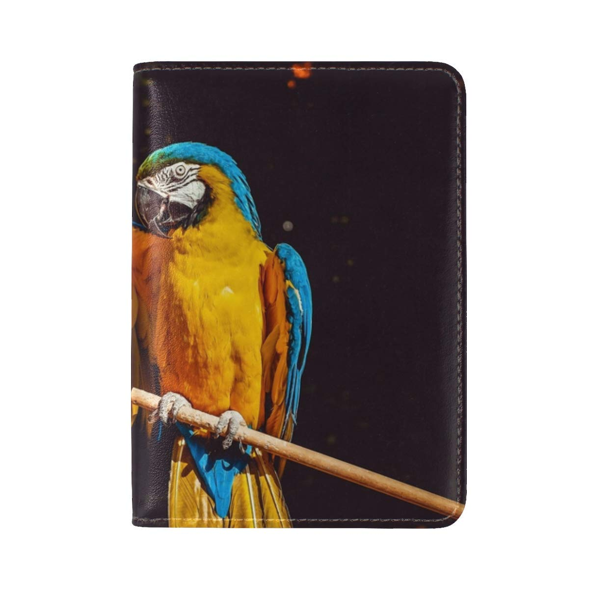 Parrot Macaw Wing Leather Passport Holder Cover Case Travel One Pocket