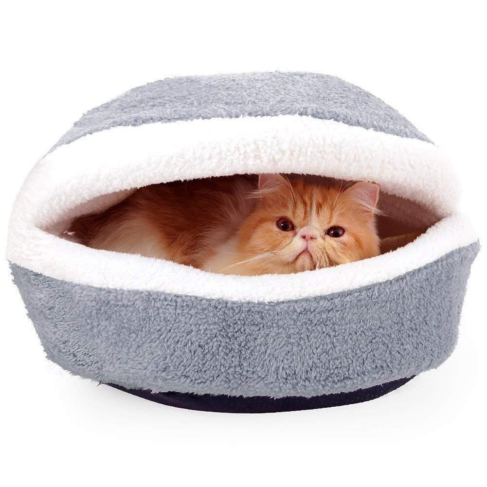 Wmchiwan Mascotapara Gato Perro Saco de Dormir for Gatos Burger House Dog House Pet Cat Supplies Desmontable Burger Shape Cat Kennel Sleeping Bed Nest Mascotapara Gato Perro