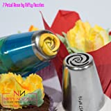 7 Petal Rose Piping Nozzle for Cake Stainless Steel by Nifty Nozzles