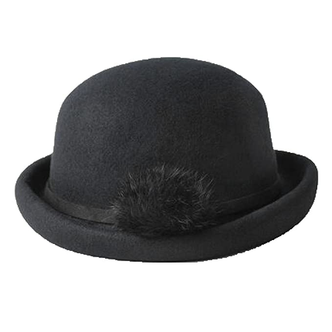 SJDT Cappello Elegante Caldo del Cappello di Inverno del Cappello della  Lana di Inverno Cappello Caldo Cappello di Feltro Caldo 605d840ed1be