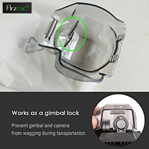 Arzroic DJI Mavic Pro Gimbal Lock Camera Guard Protector Transport Fixed Lens Cover Accessories (Color: Gimbal Cover & Gimbal Lock)
