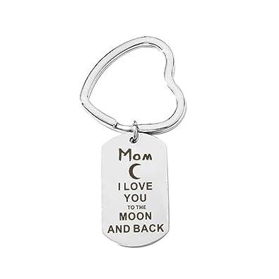 Aooaz llaveros Grabado Mom I Love You to The mond and Back ...