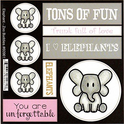 (Elephant Zoo Buddies Scrapbook Stickers (60961))
