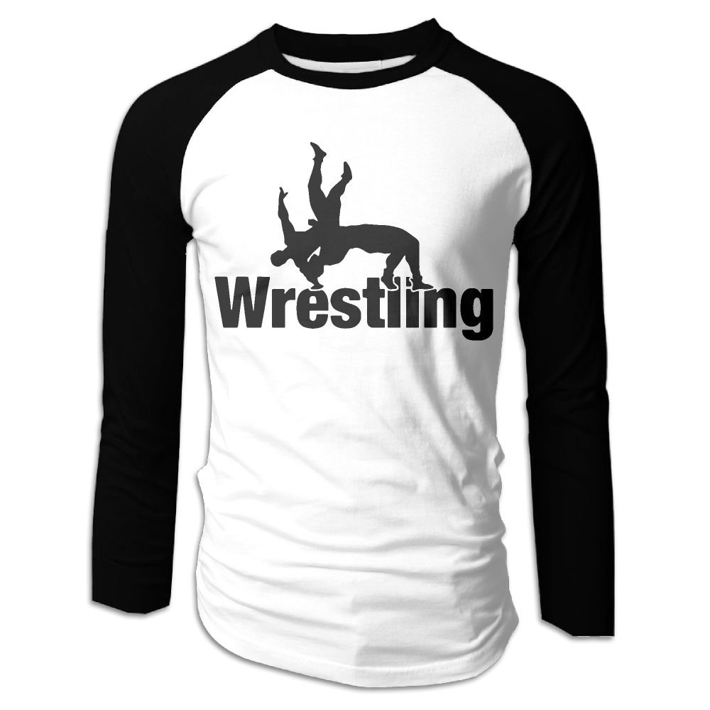 KMPLXm Men's Wrestling Clipart Printed Long-Sleeve T-Shirt by KMPLXm