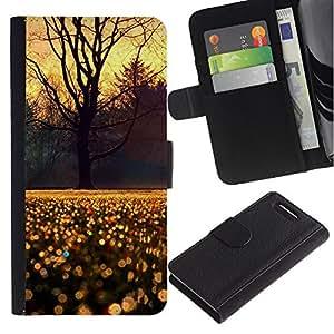 For Sony Xperia Z1 Compact / Z1 Mini / D5503,S-type® Sky Tree Rain Morning Sunrise - Dibujo PU billetera de cuero Funda Case Caso de la piel de la bolsa protectora