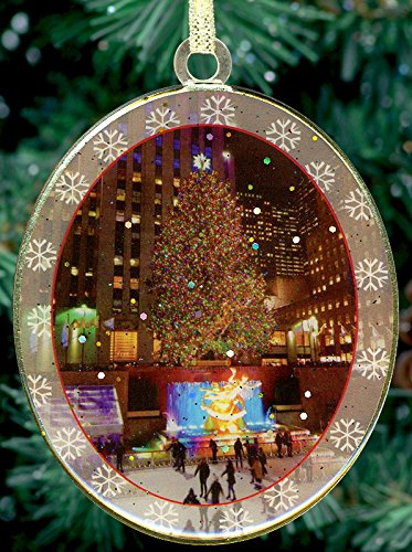New York City Christmas Ornament - Rockefeller Center Christmas Night -