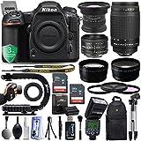 "Nikon D500 20.9MP 4K DSLR Camera w/ 3.2"" LCD - GPS & Wi-Fi Ready + 5 Lens - 15 to -300mm - 20PC Kit - Opteka 15mm LD - Nikon 50mm f/1.8D - Nikon 70-300mm G - 128GB - Opteka AF Flash + 3 YR Warranty"