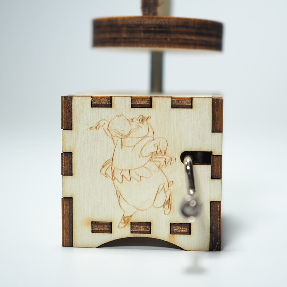 Fantasia Music Box - The Sorcerer's Apprentice - Laser cut and laser engraved wood music box. Perfect gift, memorabilia, collectible by Quetzal Studio (Image #4)
