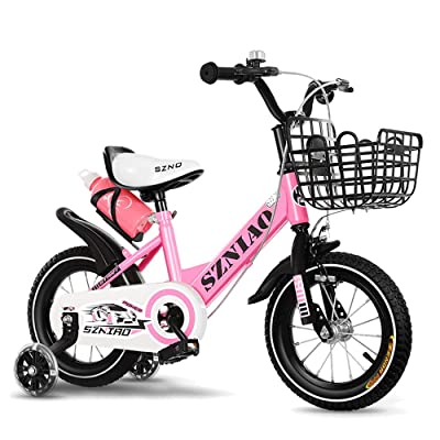 Axdwfd Kids Bike Premium Safety Sport Kids Bike Bicycle with Sidestand and Accessories for Kids Age 3 Year Old Children Bicycle : Sports & Outdoors