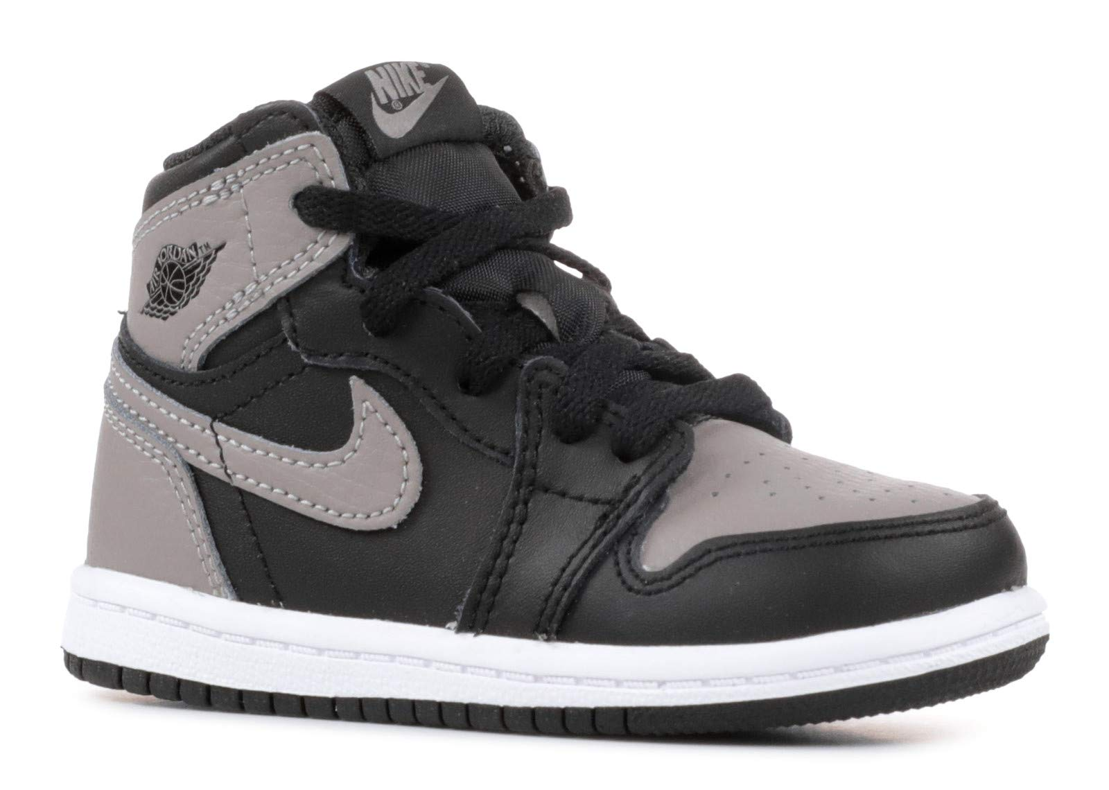 NIKE Jordan 1 Retro High OG Toddler's Shoes Black/Medium Grey/White aq2665-013 (8 M US)
