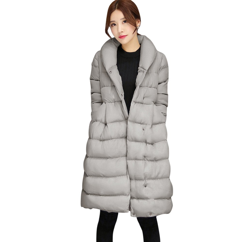 Coats for Women,Sunyastor Winter Warm Long Jacket Cotton Belt Coat Parka Thicker Jacket Cardigant Outwear