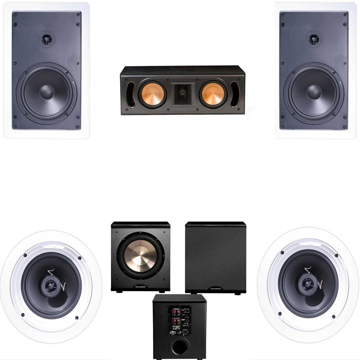 Klipsch R-1650-W In Wall #1 5.1 Home Theater System(RC-42II)-FREE PL-200 by Klipsch