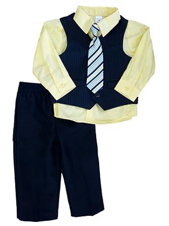 790e958bd0d2 Amazon.com  George Infant Toddler Boys 4 Piece Suit Dress Outfit ...