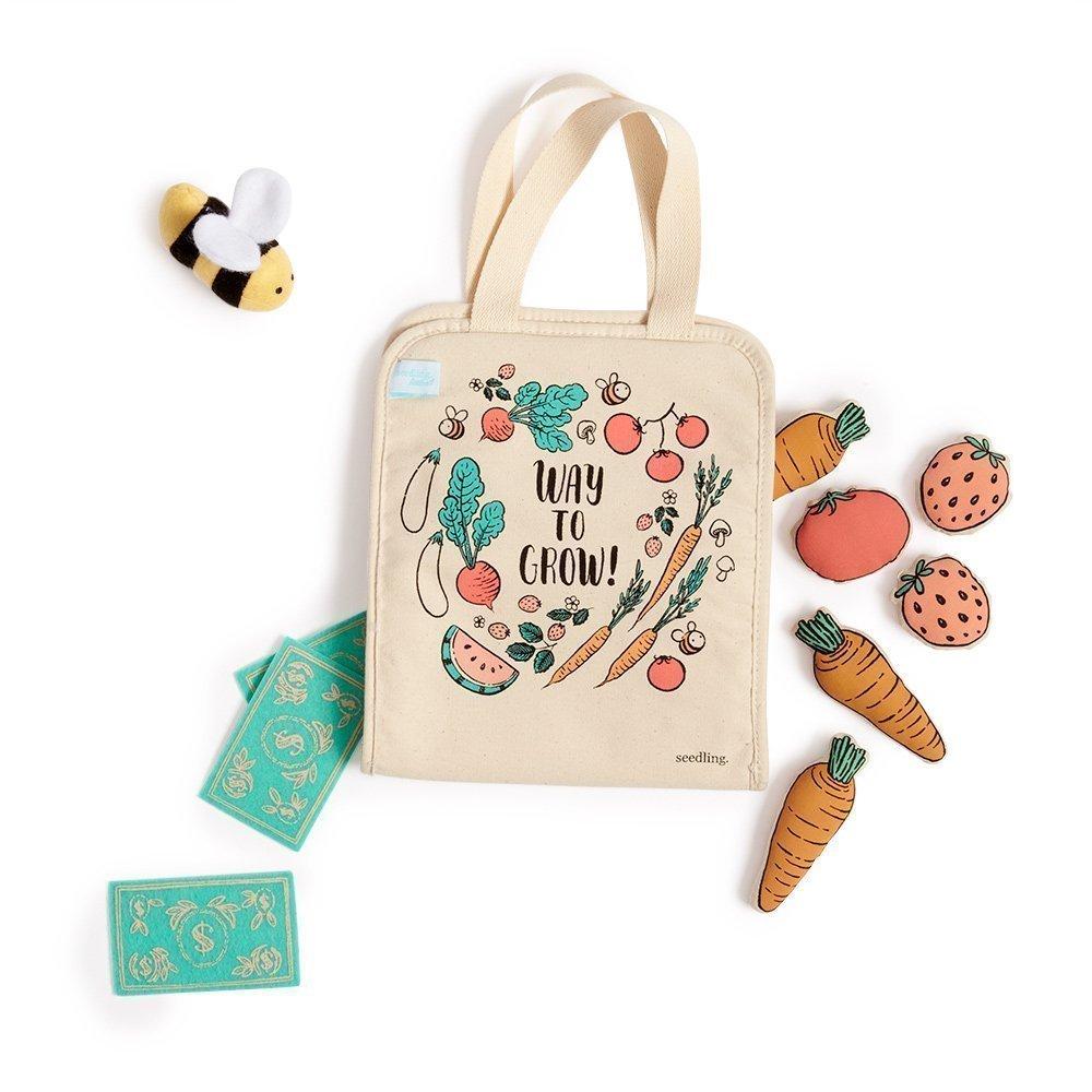 Seedling Littles Farmers Market Playtime Kit for Toddlers Ages 2-4