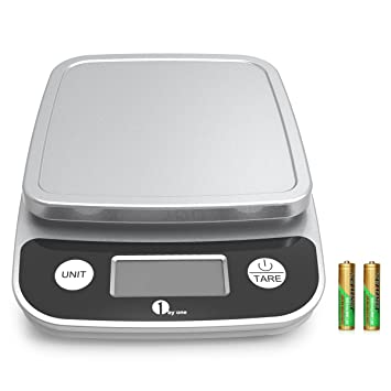 1byone 5kg/11lb bilancia da cucina digitale elettronica con ... - Bilancia Da Cucina Elettronica