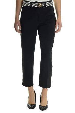 c860fa057c1 Image Unavailable. Image not available for. Color  Joseph Ribkoff Women s Split  Hem Capri Pant ...