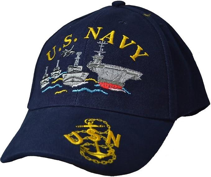 Navy Emblem Logo USN Military Baseball Ball Cap Caps Hat Hats United States U.S